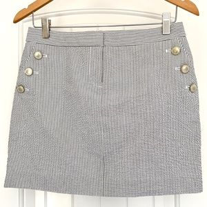 J. CREW Seersucker Nautical Sailor Mini Skirt 0